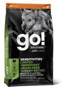 Беззерновой сухой корм GO! NATURAL для щенков и взрослых собак с индейкой для чувствительного пищеварения