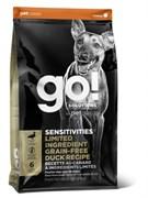 Беззерновой сухой корм GO! Sensitivity + Shine Duck Dog Recipe Grain Free для щенков и собак со свежей уткой для чувствительного пищеварения