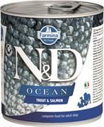 Консервы FARMINA ND DOG OCEAN TROUT/SALMON для взрослых собак всех пород с форелью и лососем