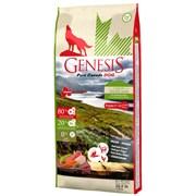 Беззерновой сухой корм Genesis Pure Canada для щенков и юниоров с курицей, козой и ягненком (Green Highland Puppy)
