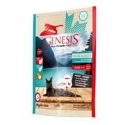 Беззерновой сухой корм Genesis Pure Canada для кошек для кожи и шерсти с лососем, форелью и курицей (My Blue lake)