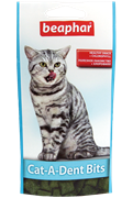 Подушечки для чистки зубов кошек Beaphar Cat-A-Dent Bits