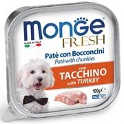 Паштет MONGE Fresh для собак с индейкой