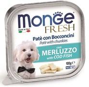 Паштет MONGE Fresh для собак с треской