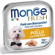 Паштет MONGE Fresh для собак с курицей