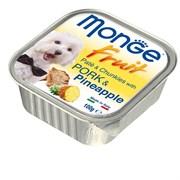 Паштет MONGE Fruit для собак со свининой и ананасом