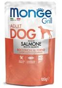 Пауч MONGE Grill для собак с лососем