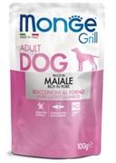 Пауч MONGE Grill для собак со свининой