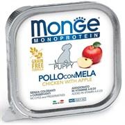 Паштет MONGE Monoprotein Fruits для щенков с курицей и яблоками