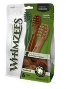 Лакомство-игрушка для чистки зубов Whimzees для собак средних и крупных пород Зубная щетка 15 см / 6 шт в пакете
