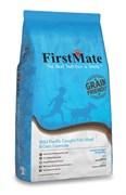 Низкозерновой сухой корм FirstMate для собак всех пород всех возрастов с белой рыбой и овсом (FirstMate Wild Pacific Caught Fish Meal & Oats)