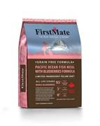 Беззерновой сухой корм FirstMate для котят и кошек с белой рыбой и голубикой (FirstMate Pacific Ocean Fish Meal With Blueberries)