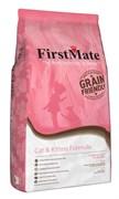 Низкозерновой сухой корм FirstMate для котят и кошек с курицей и рыбой (FirstMate Cat & Kitten)