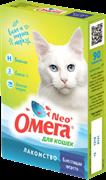 """Витаминизированное лакомство ОМЕГА NEO для кошек с биотином и таурином """"Блестящая шерсть"""""""