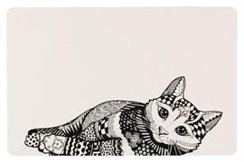 Коврик Trixie под миску Black/White Cat 44x28 см