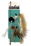 Игрушка-дразнилка для кошек Petpark с 5 сменными кисточками