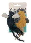 Игрушка для кошек Petpark Мышки с хвостом из перьев 2 шт