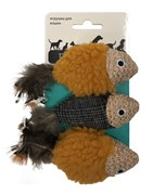 Игрушка для кошек Petpark Рыбки с хвостом из перьев 3 шт