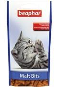 Лакомство для вывода шерсти для кошек Beaphar Malt Bits с мальт-пастой со вкусом курицы