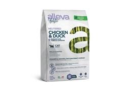 Беззерновой сухой корм Alleva Holistic для стерилизованных котов и кошек с курицей и уткой (Chicken & Duck Neutered Cat)