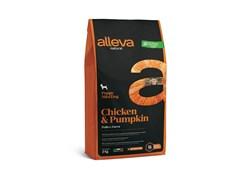 Низкозерновой сухой корм Alleva Natural для щенков мелких пород с курицей и тыквой (Puppy Chicken & Pumkin Mini)