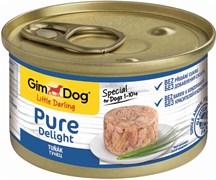 Консервы GimDog Pure Delight для собак из тунца в желе