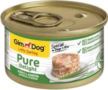 Консервы GimDog Pure Delight для собак из цыпленка с ягненком в желе
