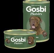 Консервы Gosbi Plaisirs для собак с индейкой, курицей и овощами (Turkey)