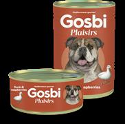 Консервы Gosbi Plaisirs для собак с уткой и малиной (Duck & Raspberries)
