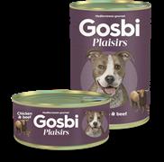 Консервы Gosbi Plaisirs для собак с курицей, говядиной и овощами (Chicken & Beef)