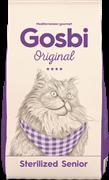 Сухой корм GOSBI Original для пожилых стерилизованных кошек для с курицей и индейкой (Sterilized SeniorCat)