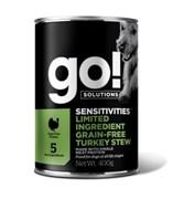 Консервы беззерновые GO! для щенков и собак с индейкой для чувствительного пищеварения (Sensitivities Limited Ingredient GF Turkey Stew DF)