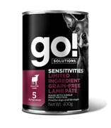 Консервы беззерновые GO! для щенков и собак с ягненком для чувствительного пищеварения (Sensitivities Limited Ingredient GF Lamb Pate DF)