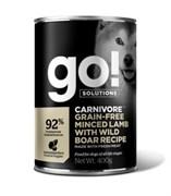 Консервы беззерновые GO! для щенков и собак с рубленым мясом ягненка и дикого кабана для (GO! Carnivore GF Minced Lamb with Wild Boar DF)