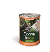 Беззерновые консервы Monge Bwild для щенков из утки с тыквой и кабачками (Bwild PUPPY/JUNIOR - Duck with pumpkin and zucchini)
