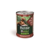 Беззерновые консервы Monge Bwild для собак из ягненка с тыквой и кабачками (Bwild Adult Dog Lamb with pumpkin and zucchini)