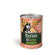 Беззерновые консервы Monge Bwild для собак из лосося с тыквой и кабачками (Bwild Adult Salmon with pumpkin and zucchini)