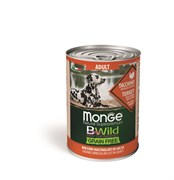 Беззерновые консервы Monge Bwild для собак из индейки с тыквой и кабачками (Bwild Adult Turkey with pumpkin and zucchini)