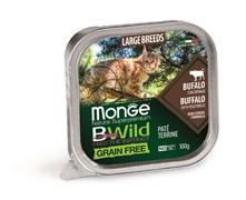 Консервы беззерновые Monge BWild для котят и кошек из буйвола с овощами (Grain Free Adult Cat Buffalo with vegetables)