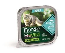 Консервы беззерновые Monge BWild для кошек из трески с овощами (Grain Free Adult Cat Codfish with vegetables)