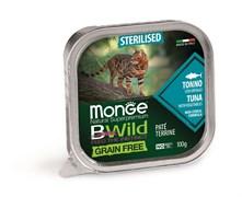 Консервы беззерновые Monge BWild для стерилизованных кошек из тунца с овощами (Grain Free Sterilised Cat Tuna with vegetables)