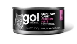 Консервы GO! для котят и кошек с курицей (GO! Skin + Coat Chicken Pate CF)