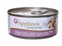 Консервы APPLAWS для взрослых кошек со скумбрией и сардинками Cat Mackerel/Sardine