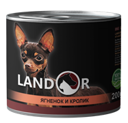 Консервы LANDOR для собак с ягненком и кроликом Lamb/Rabbit with Sweet Potato