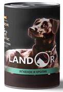 Консервы LANDOR для пожилых собак с ягненком и кроликом Senior Dog Lamb and Rabbit