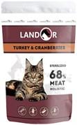 Пауч Landor для стерилизованных кошек с индейкой и клюквой Sterilized Cat Turkey and Cranberries