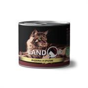 Консервы Landor для взрослых кошек с индейкой и кроликом Adult Cat Turkey and Rabbit