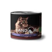 Консервы Landor для пожилых кошек с телятиной и сельдью Senior Cat Calf and Herring
