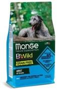 Беззерновой сухой корм MONGE Grain Free Adult Dog Anchovy/Potatoes для взрослых всех пород с анчоусами и картофелем