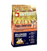 Сухой корм ONTARIO для щенков крупных пород с курицей и картофелем